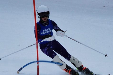 Connor Farwell, '19, hitting the slopes