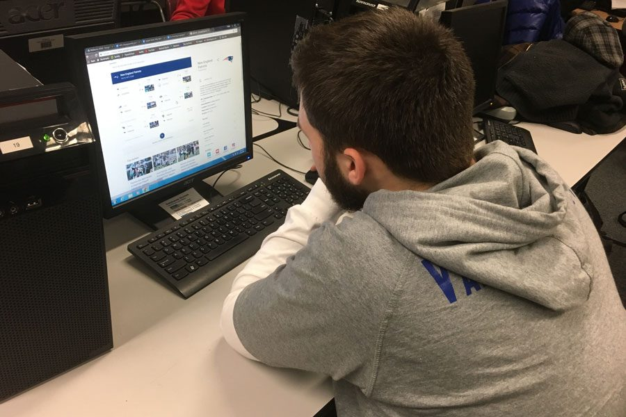 "Patriots fever is running high around HBHS, Scott VanCoughnett even peruses the internet looking at scores and highlights during class. VanCoughnett is thrilled for championship weekend, saying he ""absolutely"" will be watching the games."