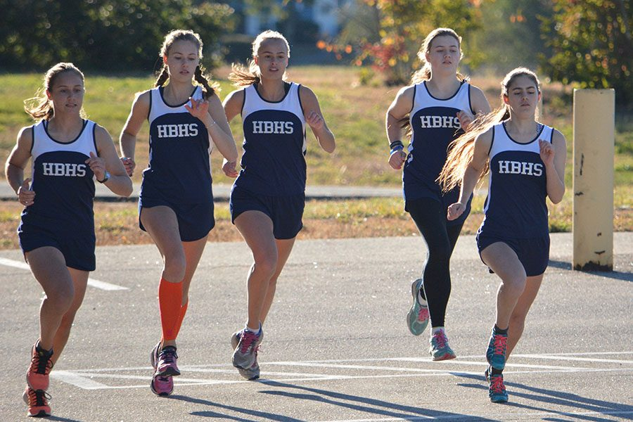 The cross country teams did well this year. The team's top finishers were Kenny Corsetti and Kay Partridge.