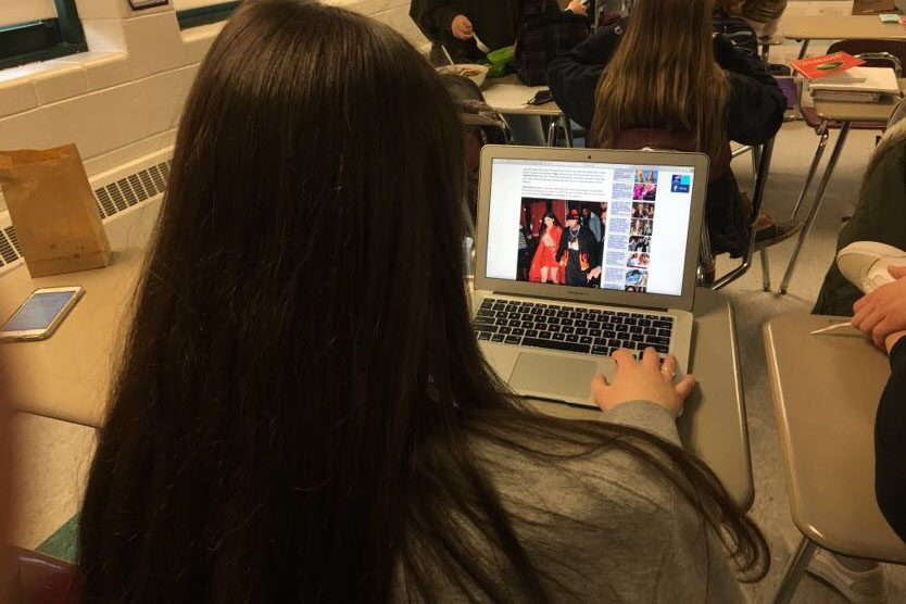 """As Tasha White '20 sits in CAV block scrolling through the daily news, She says, """"I didn't know Kylie had a baby until now""""."""
