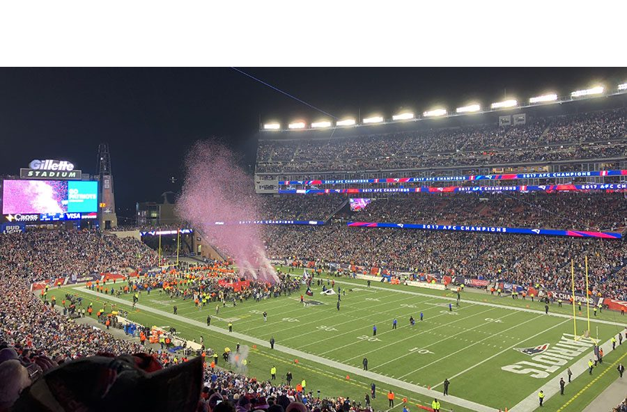 Photo from the Patriots AFC Championship win over the Jaguars