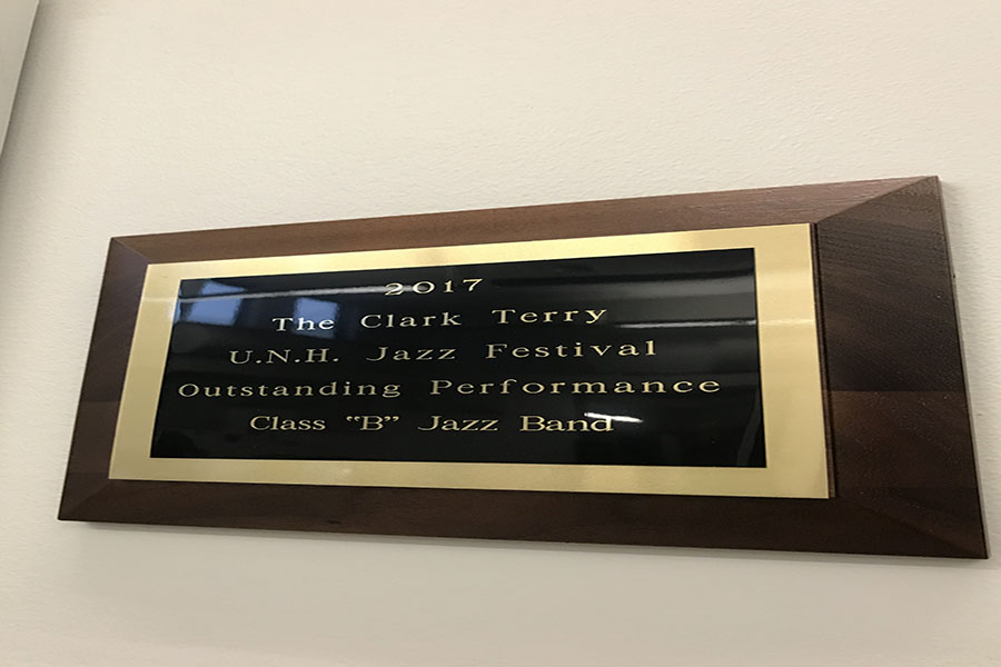 One of the HBHS Honors Jazz Band's two outstanding performance awards from the Clark Terry UNH Jazz Festival.