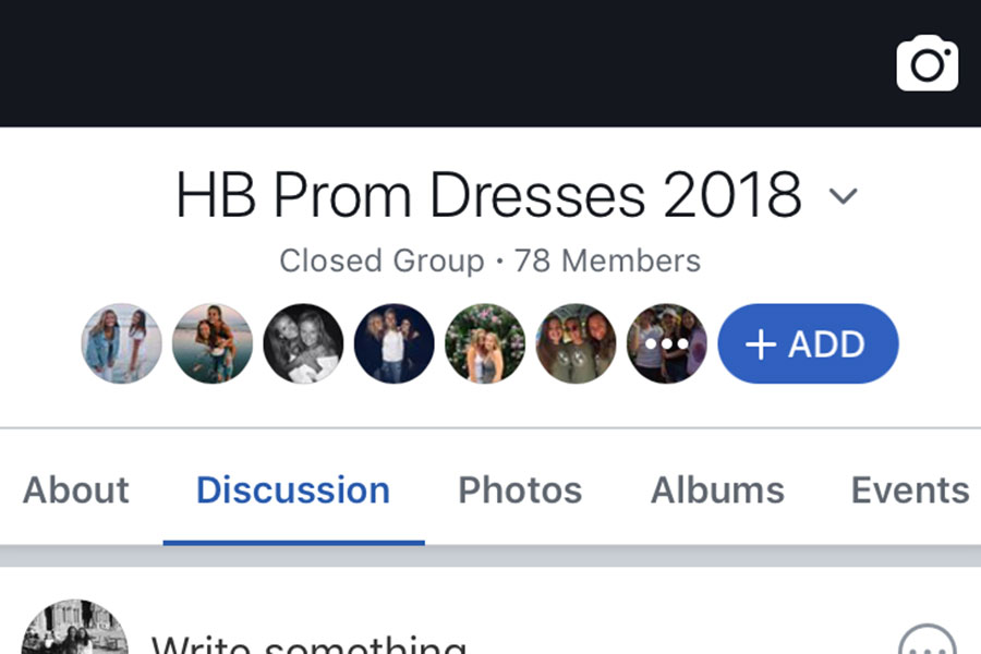"Above is a picture of the 2018 Prom Facebook Page. Hundreds of pictures have been posted here as each girl finds, and is ready to show off, her dress. ""It's usually lovely.. I'm very flattered if I am asked to chaperone,"" said Given."