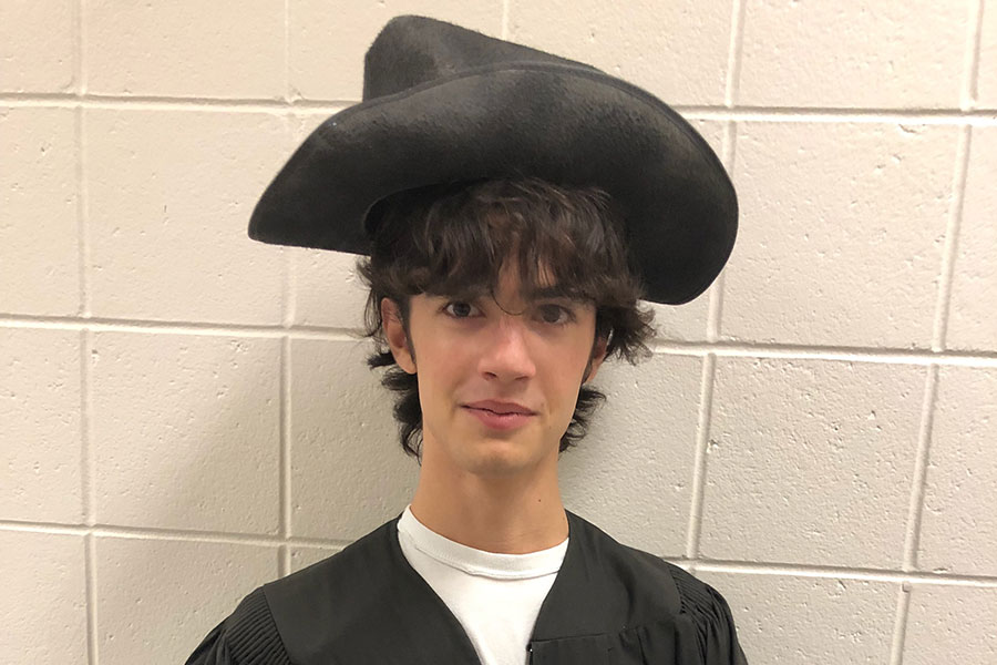 Columbus Day remains an important holiday for some Americans. Lorenzo Occhialini '20 dresses up for the festivities.
