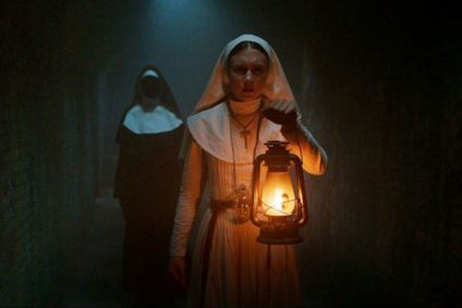"Actress Taissa Farmiga stars in a popular scene from The Nun trailer. The release of trailer brought lots of business to theaters everywhere. ""The week it came out there was a lot of excitement over the trailer. People were excited to go see the movie,"" said Wood."
