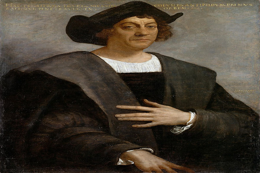 The above picture is of Christopher Columbus.