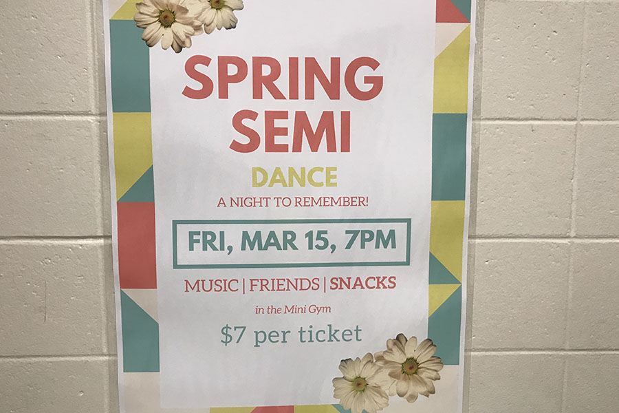 "With student council hard at work, they have been planning the look of the mini gym. ""We've been planning color schemes and floral decor that would flow nicely with our spring theme,"" said Mary Martin '20. Flowers tend to be a big theme for the night."