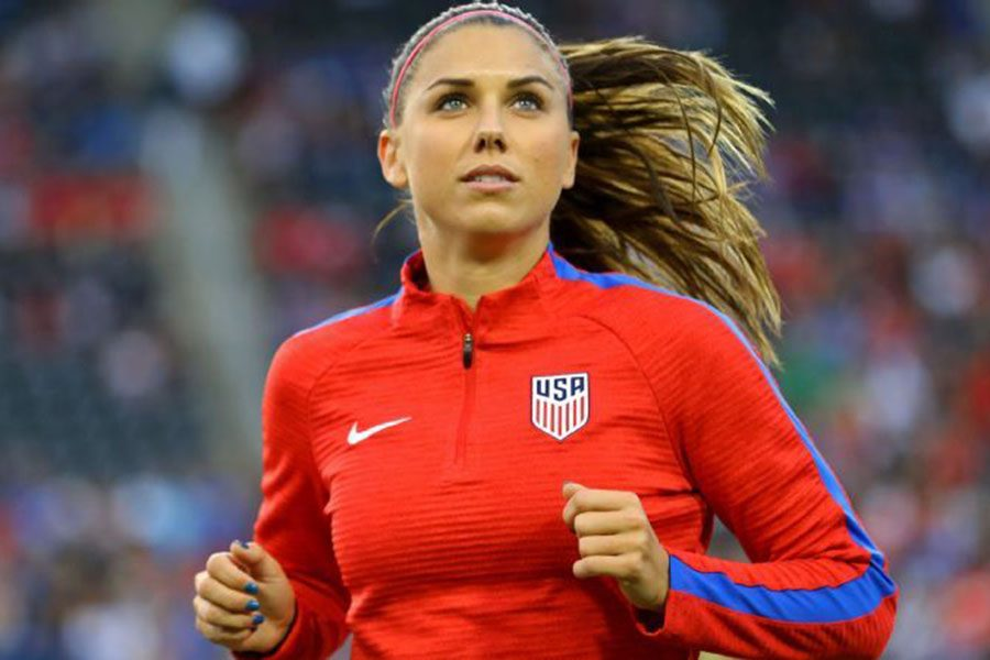 Alex Morgan was drafted in 2011 and has been playing soccer for eight years now.