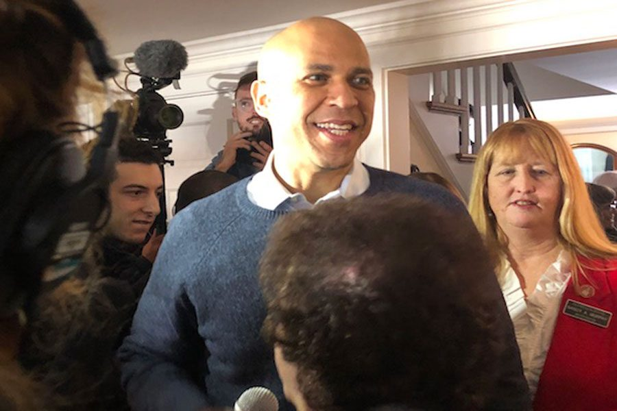 Booker delivered an impassioned speech to a room full of beaming New Hampshire citizens. In his speech, Booker speaks of his experience as a school teacher and his own struggles as a black man, providing alternative and relatable perspectives to his character as a New Jersey senator.