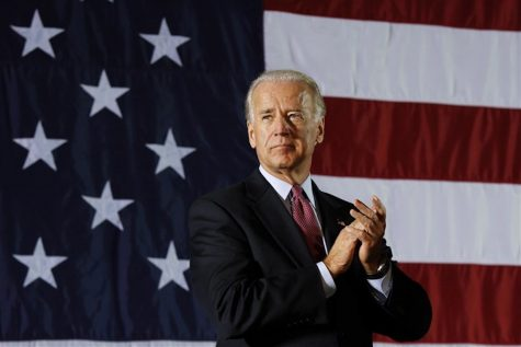Starting off his campaign in Pittsburgh, PA, Biden informs an excited crowd for his upcoming race.