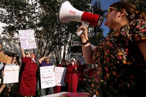 Protesters gathered outside of Alabama's State House on Tuesday, May 15, after the passing of the nation's strictest abortion bill. The state's governor, Kay Ivey, said the following in a press release,