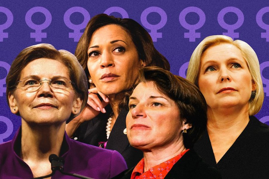From left to right: Sen. Elizabeth Warren (D-MA), Sen. Kamala Harris (D-CA), Sen. Amy Klobuchar (D-MN), and Sen. Kirsten Gillibrand (D-NY). All are running in the Presidential Election alongside even more female candidates. There are a record number of women running for the 2020 spot.