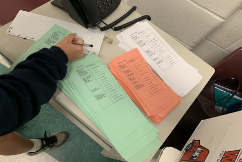 Students from all classes fulfilled their civic duty by voting for their desired 2019-2020 representatives. Ballots were color coded and boxes were organized by class.