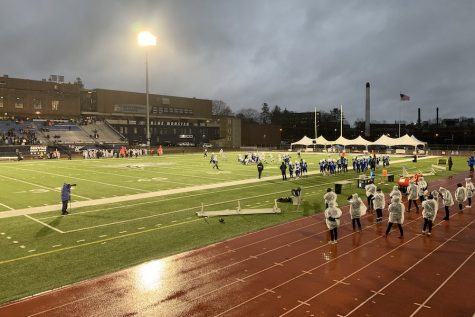 "The boys of the Hollis Brookline football team fought hard at the DII NHIAA Football Championship. This was the football team's first appearance in the championship game. ""I felt like it was a great end to one of the most fun seasons I've ever played,"" said Parr."