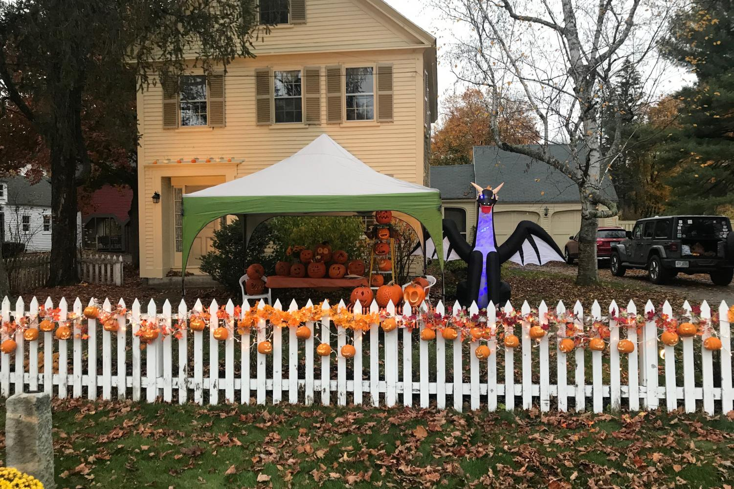 """Moments before trick or treaters filled the streets and Halloween festivities begin. The Amherst Village hosts a Halloween extravaganza every year, with each house trying to outdo the next. """"Halloween is a great time to enjoy with friends and make forever lasting memories,"""" Said HB senior Alex Lee."""