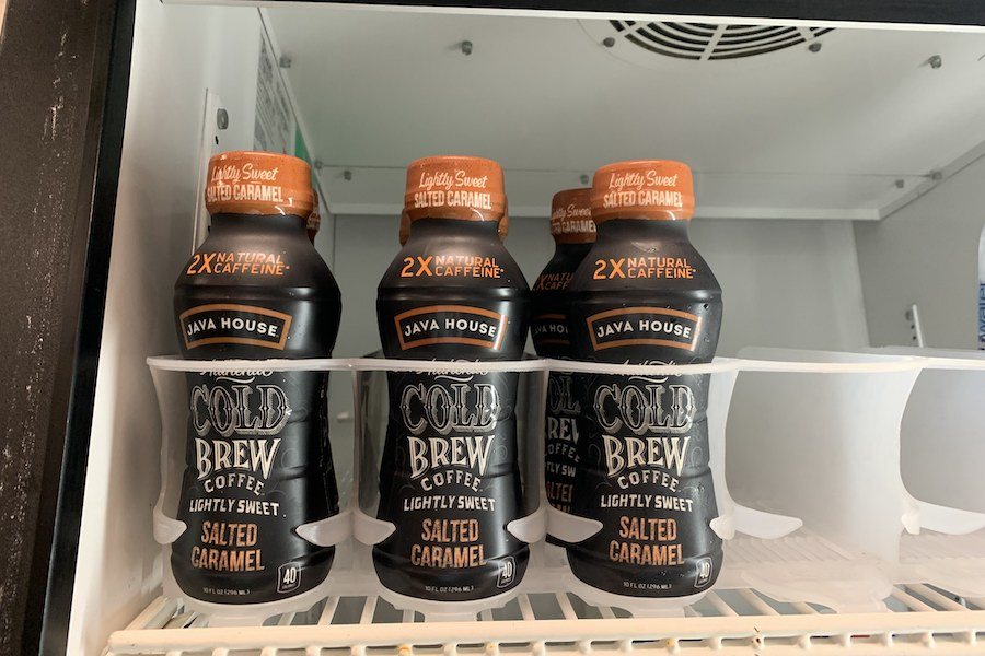 These drinks are new additions to the Hollis-Brookline High School's cafeteria. The Ice caffeinated drinks and cold brew coffee have been flying off of the shelves for the past two weeks. However, according to King, the Snapple that has been offered contains caffeine as well.