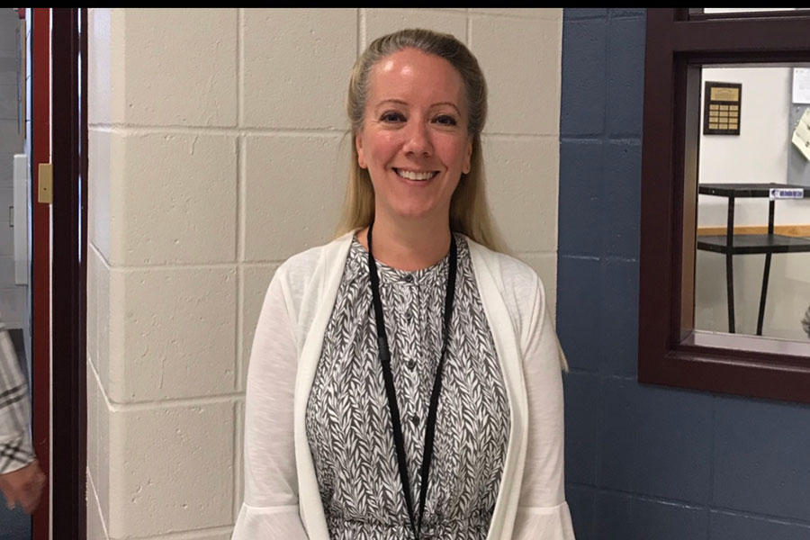 """Debra Castonguay works hard everyday to establish strong relationships with students. Castonguay is excited to be working in a great town and to continue meeting her new students. """"Hollis Brookline is a great Community to work in"""" said school counselor Castonguay."""