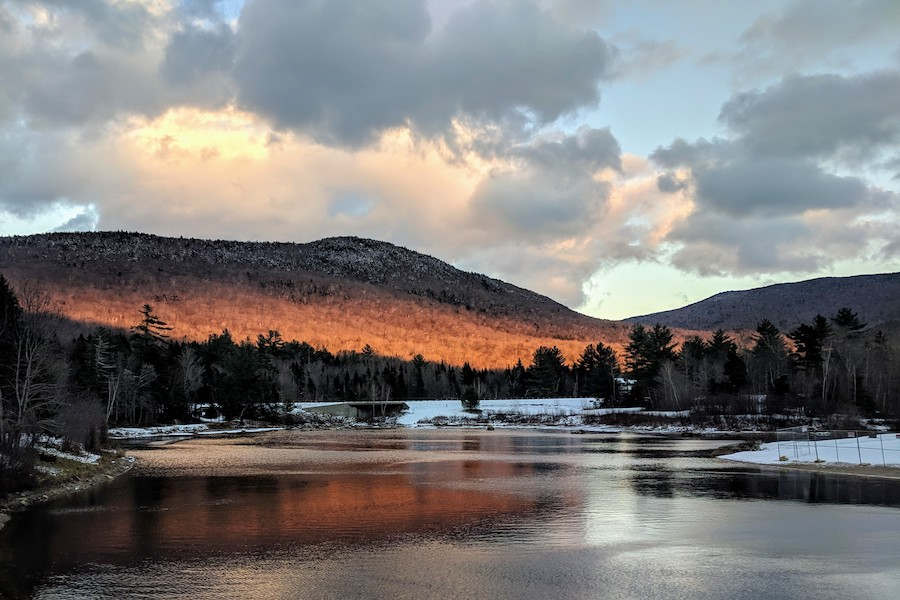 "The mountains surrounding Waterville Valley always capture the light of the sunsets. Waterville Valley is popular for its beautiful scenery and nature trails in the mountains.  ""I love Northern New Hampshire and the white mountains; it's a calm and reserved area with an astonishing view,"" said Nathan Maloney '21."