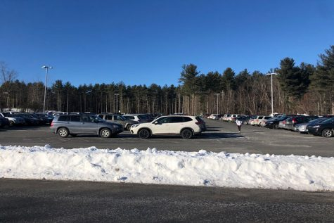 """One of the current parking lots that provides 258 spots for students. It fits the majority of the upperclassmen, yet still leaves many students with no available spots. """"I really like getting rides from my mom. Haha just kidding, I really wish I had a spot,"""" said Miles Montgomery '22."""