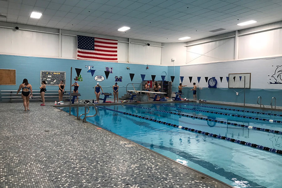 "The swim team is hard at work on a Thursday afternoon at the Nashua Boys and Girls Club. Preparing for their first meet of the season this weekend, they are striving to beat their personal times. ""The environment is more relaxed than other sports and not as hard core,"" said Bardani"