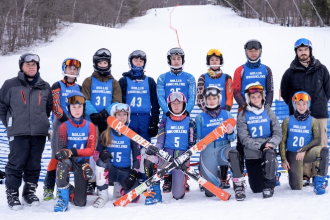 The+HB+skiers+pose+for+a+group+picture+after+a+race.+The+HB+ski+team+practiced+and+raced+at+Crotched+Mountain+throughout+the+season%2C+where+they+had+a+strong+performance+at+their+state+meets.%C2%A0+%E2%80%9CIt+was+a+great+group+of+kids.+It+was+a+fun+experience+every+time+I+went%2C%E2%80%9D+said+Assistant+Coach+Milton+Robinson.