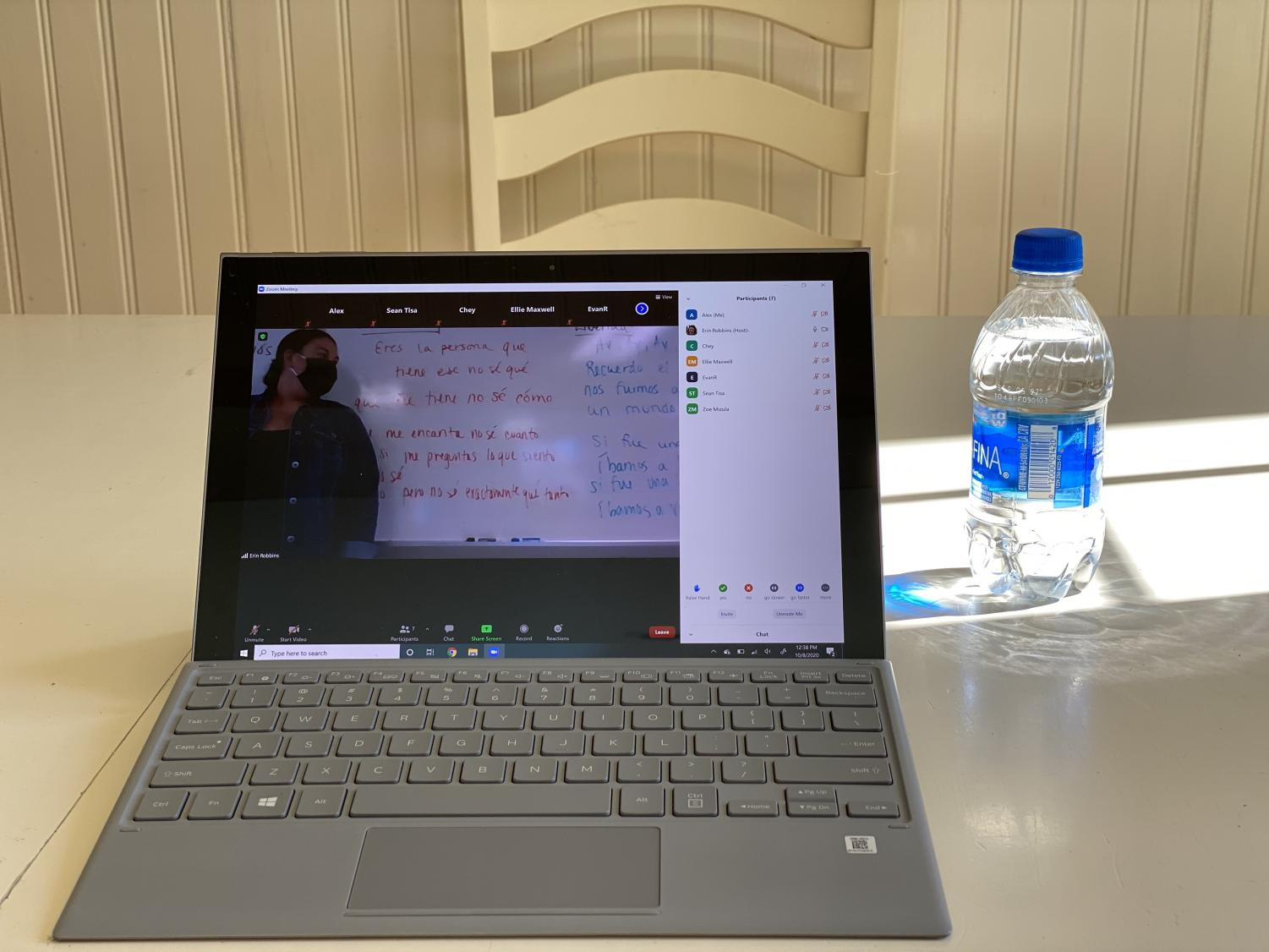 "A class at HB being taught over Zoom. This year has forced teachers to be adaptive and innovative in order to tailor their classes to remote environments. ""I think teaching online can make you a better teacher. You have to be crystal clear with where you want to go, what learning experience will help students develop skills, and you have to be really, really organized, and think ahead all of the time."" said Illingworth."