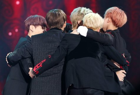 "BTS members embrace into a group hug after receiving their first ever Daesang [Grand Prize] for Album of the Year at the 2016 Melon Music Awards. This was a huge milestone for the group that marked a day in history for BTS and BTS ARMY. Almost all of the members cried tears of joy. ""This is really the biggest award we got since our debut,"" said RM during the acceptance speech of this award."